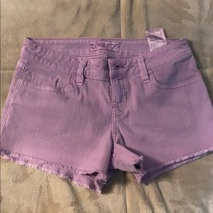 Lavender jean guess shorts